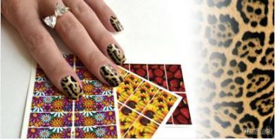 Color Printing Art Nail Sticker