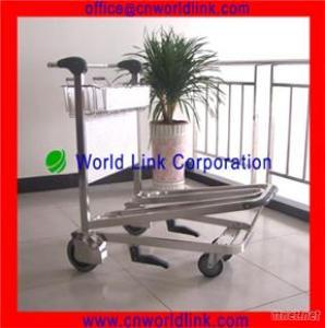 250Kgs Load Luggage Transporting Stainless Steel Aircraft Trolleys