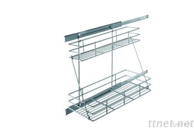 2 tier pull out baskets