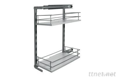 2-tier kitchen pull out baskets