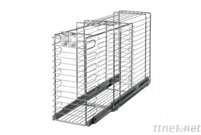 Lockable Cleansing-utensil Pull-out Basket for 300mm cabinet