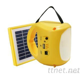 1W LED Solar Energy Camping Lantern With Mobile Charger (PS-L044)