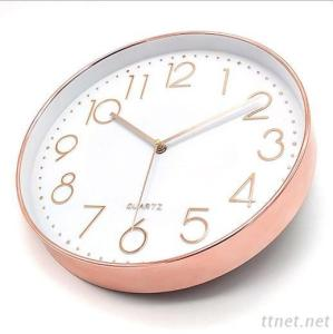 Rose Gold Plastic Wall Clock With High Quality
