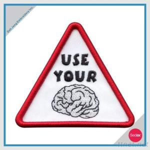 Embroidery slogan patch(USE YOUR BRAIN)