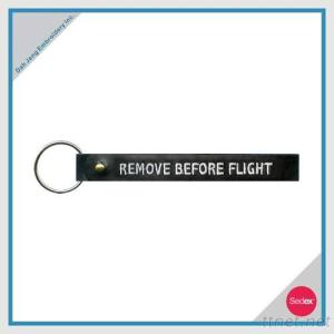 Embroidery Key Ring - REMOVE BEFORE FLIGHT