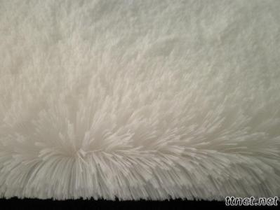 Polyester knitted plush fabric