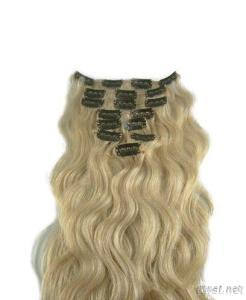 Clip-In Human Hair Extensions From China