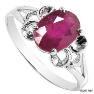 925 Silver Ring With Gemstone