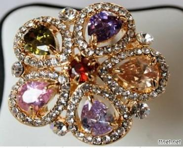Gold Plated And Cz Ring