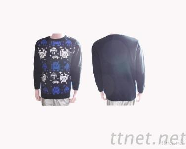 Men'S Intarsia Pullover Sweater