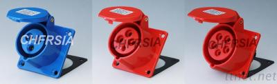 ordinary industrial socket(straight) panel mounting 3P 4P 5P