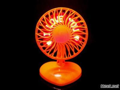 Cooling USB Fan With LED Message