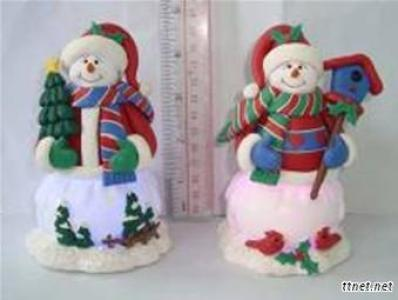 Resin Paste Or Clay Dough LED Xmas Pedant/Hang Decoration