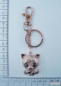 Cat-shaped Pendant Keychain