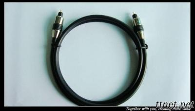 Optical Digital Multimedia Cable PVC Sheath And Gold Plated Connector
