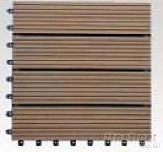 DIY WPC Flooring Made Of Natural Wood Plastic Composite