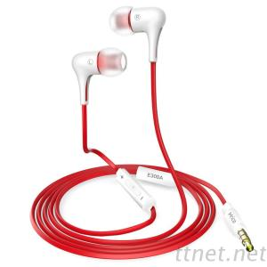 Mrice E300A Wired Headphone With Microphone Stereo Earbuds 3.5 Mm In-Ear Earphone