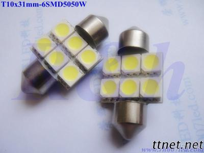 Festoon Led Bulbs For Car(31Mm)