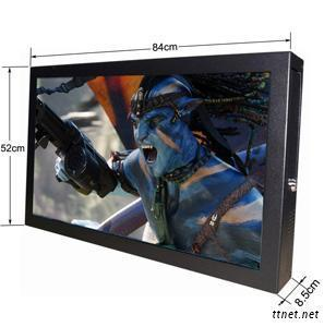 65Inch WIFI/Network Wall Mounted LCD Advertising Player