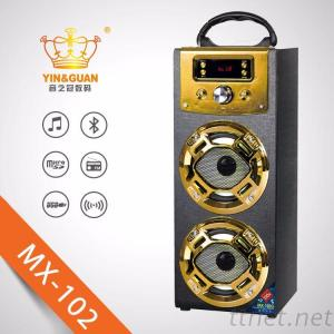 Wooden Portable Bluetooth Outdoor Speaker With Karaoke And FM Function
