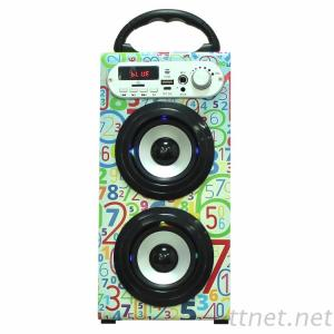 Portable Active Wooden Portable Karaoke Party Blue Tooth Outdoor Party USB Speaker Wireless