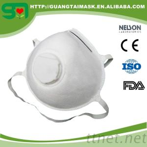 N95 Solid Face Mask With Vavle 3 Ply