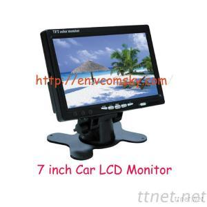 Best Selling 7 Inch TFT LCD Monitor Car Stand-Alone LCD Car Monitor for Bus Truck, Wide Voltage
