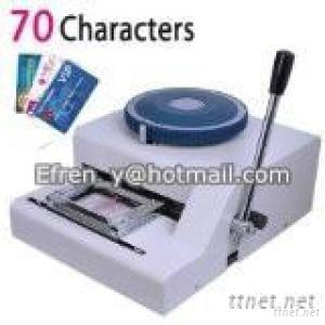 Brand New 70 Letters PVC Card Embosser Machine, Manual Card Printer Machine 70 Code Character