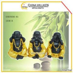Resin Cute Buddha Statue For Home Decoration