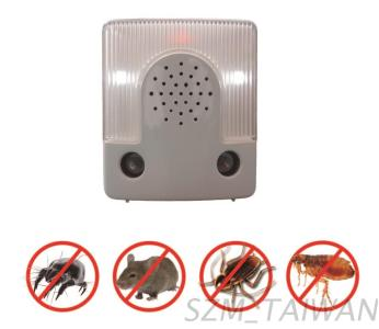 Ultrasonic Dust Mite/Mouse/Cockroach/Flea Repeller with LED Night Light