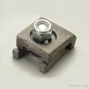 Bolted type crane rail clips
