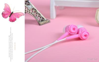 ULDUM Noise Isolation Tone Rose Plastic Headphone With Mic for Mp3 Music Player