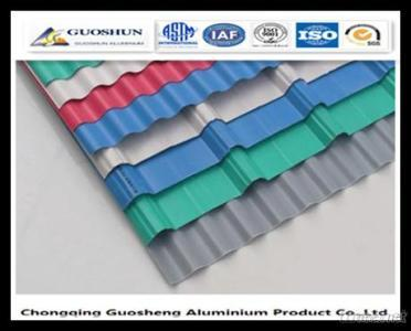 Colour Coated Aluminium Corrugated Sheet