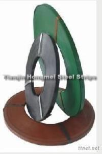 Green Painted Steel Strapping