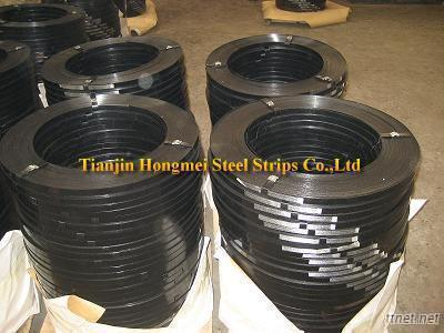 Black Painted Steel Strips