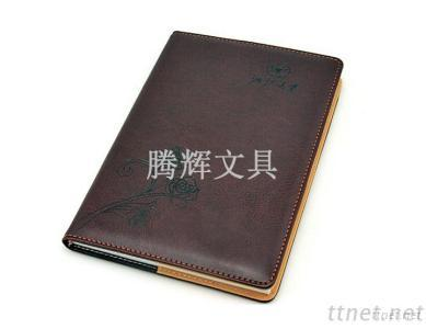 PU leatner notebook , business notepad with calendar