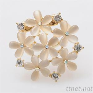 Brooches, Delicate Flower Brooches With Rhinestone