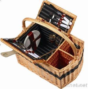Wicker Picnic Basket With Lips