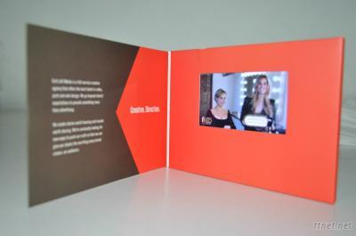 New Arrival! 7Inch Lcd Video Display Card/LCD Video Greeting Card, Video Brochure Card For Adverting