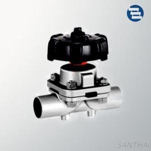Sanitary Stainless Steel Welded Clamped End Throughway Diaphragm Valve