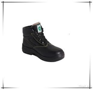 Embossed Leather Safety Work Shoes