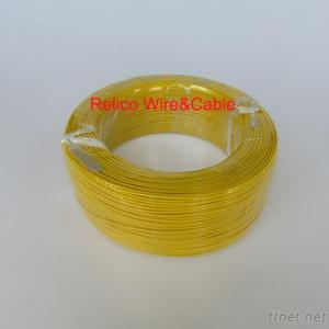22 AWG Yellow Color Teflon Insulated Electric Wire PFA Insulation Silver Plating Copper Single Core For Electronics