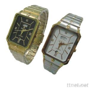 Alloy Case Watch Leather Band Or Steel Band