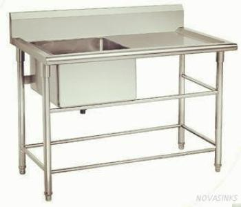 All Stainless Steel Kitchen Table sink-KBTBD9065