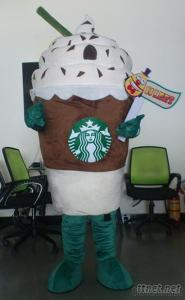 OHLEES Custom Made Starbuck Icecream Mascot Costume Suit Adult Size Character Cartoon Halloween Costume 2014 For Sale