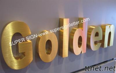 Golden Brushed Stainless Steel Lettering