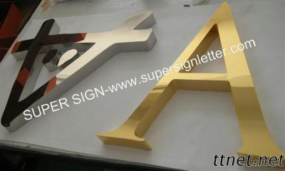 Golden Polished Stainless Steel Letters