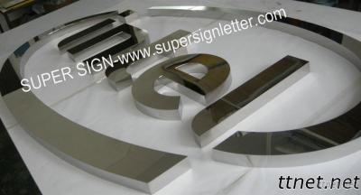 Fabricated Mirror Stainless Steel Sign
