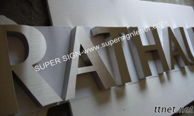 Fabricated Brushed Stainless Steel Letters