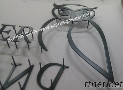 Flat Cut Solid Painted Stainless Steel Letter Sign